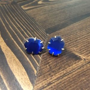 Kendra Scott Morgan Cobalt earrings